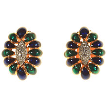 Buy Alice Joseph Vintage D'Orlan Gilt Plated Enamel Diamnte Clip-On Earrings Online at johnlewis.com