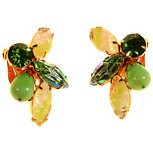 Buy Alice Joseph Vintage Gilt Plated Glass Stone Clip-On Earrings, Green/White Online at johnlewis.com