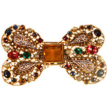 Buy Alice Joseph Vintage 1920s Filigree Bow Gilt Plated Brooch, Multi Online at johnlewis.com