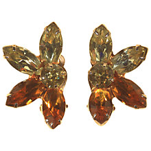 Buy Alice Joseph Vintage Kramer Diamante Clip-On Earrings, Amber Online at johnlewis.com