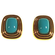 Buy Alice Joseph Vintage Christian Dior Gold Plated Stone Clip-On Earrings, Turquoise Online at johnlewis.com