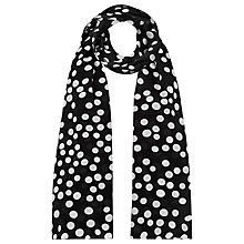 Buy Precis Petite Silk Polka Dot Scarf, Black Online at johnlewis.com