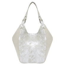 Buy Mint Velvet Carrie Leather Shopper Bag, Metallic Online at johnlewis.com