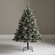 Buy John Lewis Firth White and Glitter Christmas Tree, 5ft Online at johnlewis.com