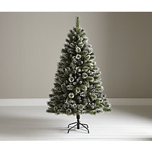Buy John Lewis Firth White & Glitter Christmas Tree, 6ft Online at johnlewis.com