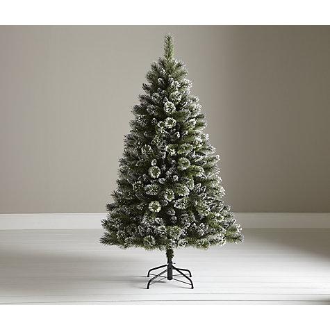 Buy john lewis firth white amp glitter christmas tree 6ft john lewis