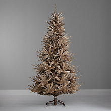 Buy John Lewis Champagne Gold Christmas Tree, 7ft Online at johnlewis.com