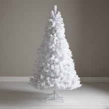 Buy John Lewis Pre-Lit White Flock Christmas Tree, 7ft Online at johnlewis.com