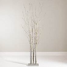 Buy John Lewis 6ft Pre-Lit Birch Cluster Online at johnlewis.com
