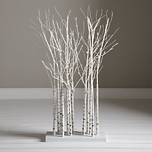 Buy John Lewis Pre-Lit Birch Cluster, 4ft Online at johnlewis.com