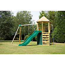 Buy TP Castlewood Tower with Crazywavy Slide, Swing Arm and Seats Online at johnlewis.com