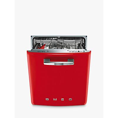 Smeg di6fabr2 retro integrated dishwasher red - Smeg vintage ...
