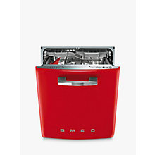 Buy Smeg DI6FABR2 Retro Integrated Dishwasher, Red Online at johnlewis.com