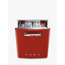 Buy Smeg DF6FABR2 Retro Freestanding Dishwasher, Red Online at johnlewis.com