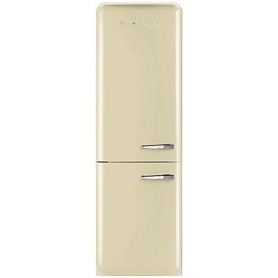Smeg FAB32LNC Fridge Freezer, A++ Energy Rating, Left-Hand Hinge, 60cm Wide, Cream