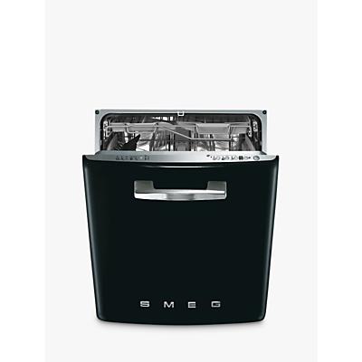 Image of Smeg DI6FABNE2 Retro Integrated Dishwasher, Black