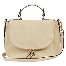 Buy Oasis Sascha Satchel Bag, Off White Online at johnlewis.com