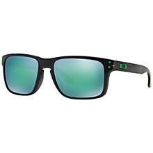 Buy Oakley OO9102 Holbrook Polarised Sunglasses, Black Ink Online at johnlewis.com