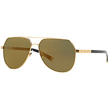 Buy Dolce & Gabbana DG2133K Aviator Sungalsses, Gold Sand Online at johnlewis.com