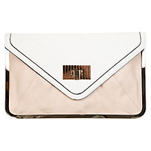 Buy Miss Selfridge Metal Frame Clutch, Nude Online at johnlewis.com