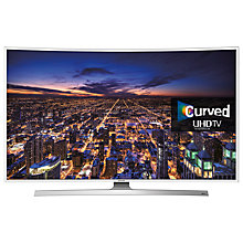 "Buy Samsung UE48JU6510 Curved 4K Ultra-HD Smart TV, 48"" with Freeview HD/freesat HD, Built-In Wi-Fi and Intelligent Navigation Online at johnlewis.com"