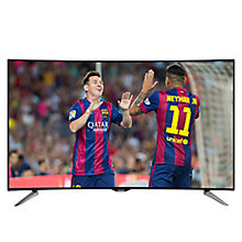 "Buy Panasonic Viera TX-55CR430B Curved LED 4K Ultra-HD 3D Smart TV, 55"" with Freeview HD and Built-In Wi-Fi Online at johnlewis.com"
