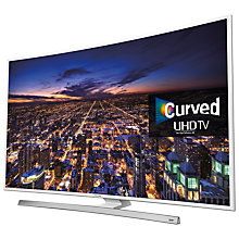 "Buy Samsung UE55JU6510 Curved 4K Ultra-HD Smart TV, 55"" with Freeview HD/freesat HD, Built-In Wi-Fi and Intelligent Navigation, White Online at johnlewis.com"