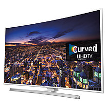 "Buy Samsung UE40JU6510 Curved 4K Ultra-HD Smart TV, 40"" with Freeview HD/freesat HD, Built-In WiFi and Intelligent Navigation Online at johnlewis.com"