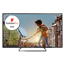"Buy Panasonic Viera TX-55CX680B LED 4K Ultra HD Smart TV, 55"" with Freeview HD and Built-In Wi-Fi with Monster 4K HDMI Cable Online at johnlewis.com"