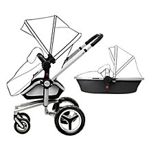 Buy Silver Cross Surf2 Pram Chassis, Seat and Carrycot, Black/Chrome Online at johnlewis.com