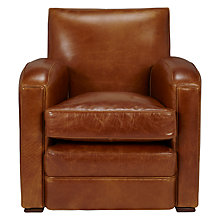 Buy John Lewis Clifford Aniline Leather Armchair, Coffee Online at johnlewis.com