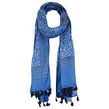 Buy Miss Selfridge Indochine Print Scarf, Blue Online at johnlewis.com