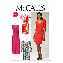 Buy McCall's Women's Dress Sewing Pattern, 6884 Online at johnlewis.com