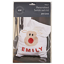 Buy John Lewis Santa Christmas Sack Mini Sewing Kit Online at johnlewis.com