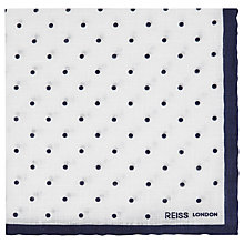 Buy Reiss Linen Polka Dot Pocket Square Online at johnlewis.com