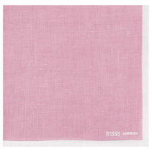 Buy Reiss Yacht Piped Linen Pocket Square Online at johnlewis.com