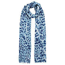 Buy Whistles Brushed Print Scarf, Pale Blue Online at johnlewis.com