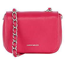 Buy Karen Millen Mini Leather Chain Handle Bag Online at johnlewis.com