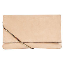 Buy Karen Millen Brompton Clutch Bag, Nude Online at johnlewis.com