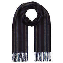 Buy John Lewis Herringbone Stripe Cashmink Scarf Online at johnlewis.com