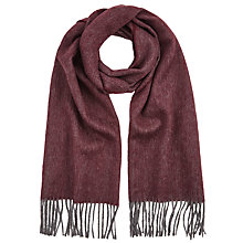 Buy John Lewis Wool Herringbone Scarf, Burgundy Online at johnlewis.com