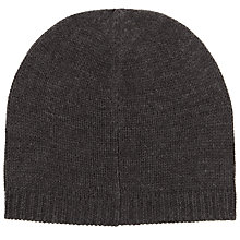 Buy John Lewis Knitted Beanie Hat, One Size, Charcoal Online at johnlewis.com