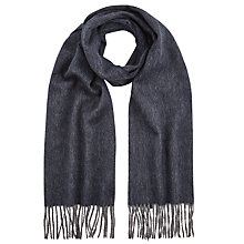 Buy John Lewis Wool Herringbone Scarf, Charcoal Online at johnlewis.com