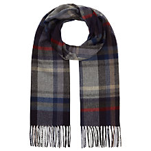 Buy John Lewis Cashmink Check Scarf, Blue Online at johnlewis.com