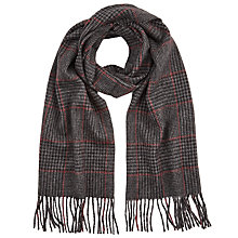 Buy John Lewis Wool Dogtooth Check Scarf, Charcoal Online at johnlewis.com