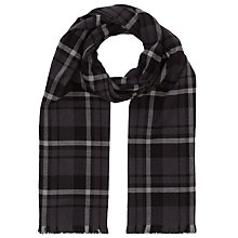 Buy John Lewis Large Check Scarf, Grey Online at johnlewis.com