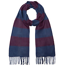 Buy John Lewis Horizontal Stripe Cashmink Scarf, Blue/Purple Online at johnlewis.com