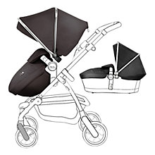 Buy Silver Cross Chrome Pioneer Pushchair Seat, Chassis and Carrycot and Black/Chrome Essentials Pack, with Simplicity Infant Carrier Online at johnlewis.com