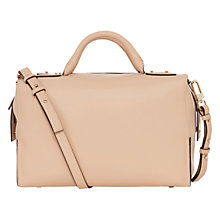 Buy Karen Millen Modern Leather Box Bag, Nude Online at johnlewis.com