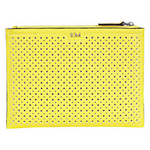 Buy Karen Millen Perforated Pochette Clutch Bag, Yellow Online at johnlewis.com